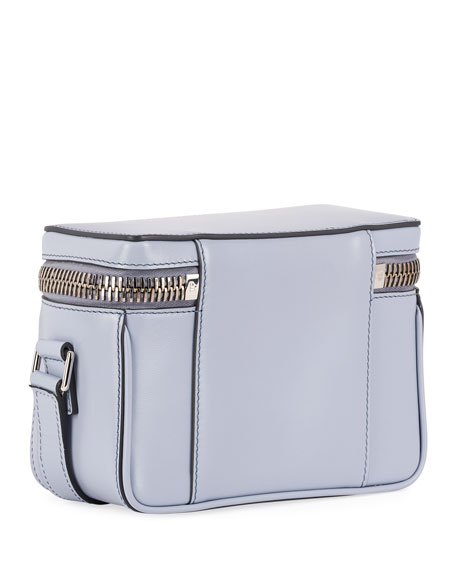 Image 3 of 3: TOM FORD Metro Small Soft Leather Box Shoulder Bag with Silver Hardware
