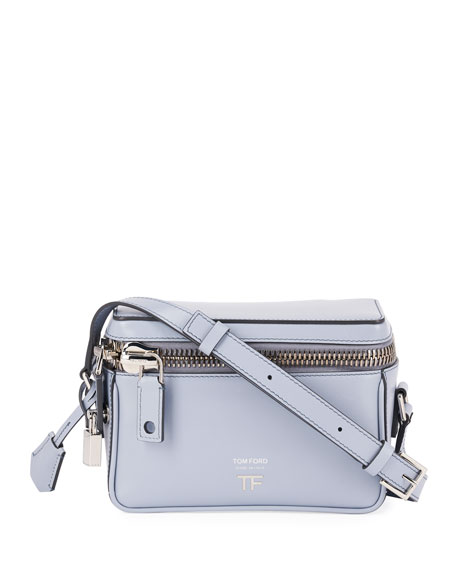 Image 1 of 3: TOM FORD Metro Small Soft Leather Box Shoulder Bag with Silver Hardware