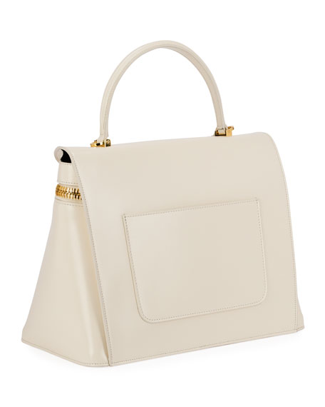 Image 3 of 3: TOM FORD Metro Smooth Leather Top-Handle Bag
