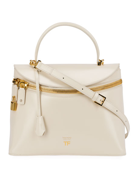 Image 1 of 3: TOM FORD Metro Smooth Leather Top-Handle Bag