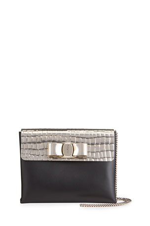 Salvatore Ferragamo Vara Evening Strass Crossbody Bag