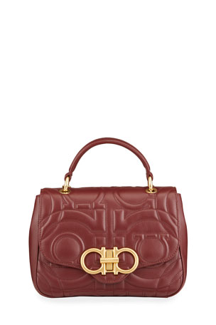 Salvatore Ferragamo Gancio Quilting Crossbody Bag