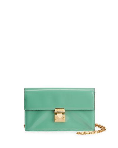 Jacqueline Brush-Off Leather Shoulder Bag