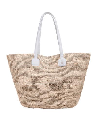 Cote Woven Raffia Tote Bag