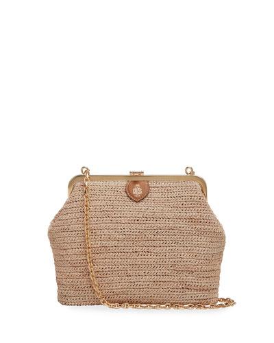 Susanna Raffia Crossbody Pouch Bag