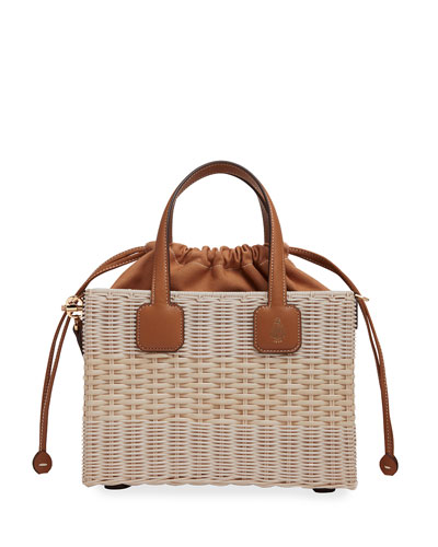 Manray Small Rattan Bucket Bag