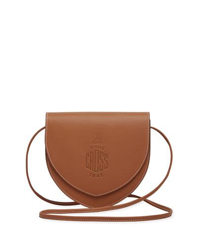 Dunes Soft Leather Logo Crossbody Bag