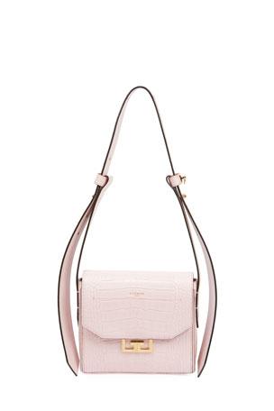 Givenchy Eden Mock-Croc Shoulder Bag, Pink