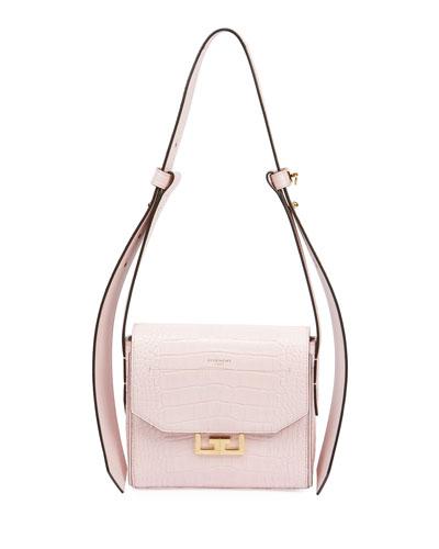 Eden Mock-Croc Shoulder Bag  Pink