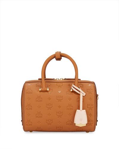 Essentials 23 Monogram Leather Boston Bag