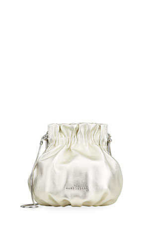 The Marc Jacobs The Soiree Metallic Leather Bucket Bag