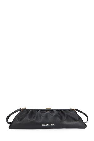 Balenciaga Cloud XL Grained Leather Clutch Bag