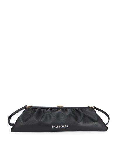 Cloud XL Grained Leather Clutch Bag