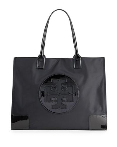 Ella Patent Quadrant Top Handle Tote Bag
