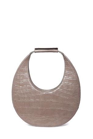 Staud Moon Mock-Croc Shoulder Bag