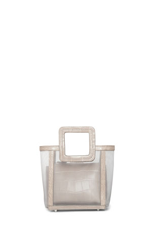 Staud Shirley Mini Mesh Square-Handle Tote Bag