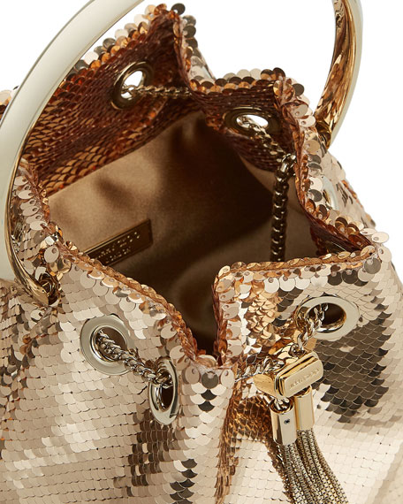Image 2 of 5: Jimmy Choo Bon Bon Sequin Top Handle Bag