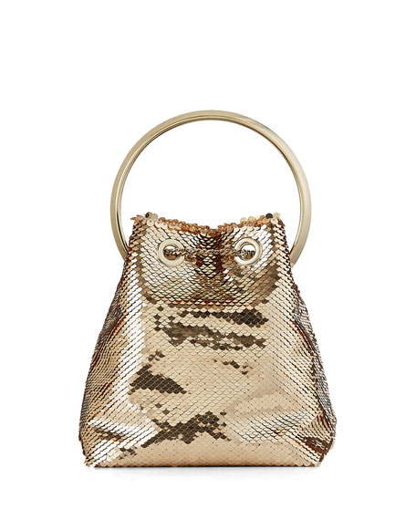 Image 3 of 5: Jimmy Choo Bon Bon Sequin Top Handle Bag