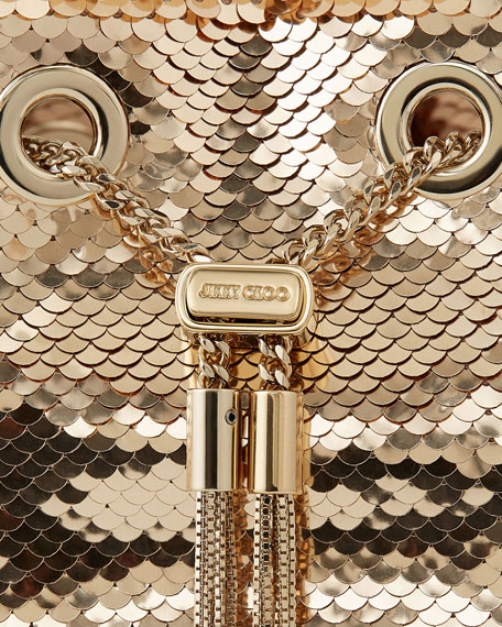 Image 5 of 5: Jimmy Choo Bon Bon Sequin Top Handle Bag