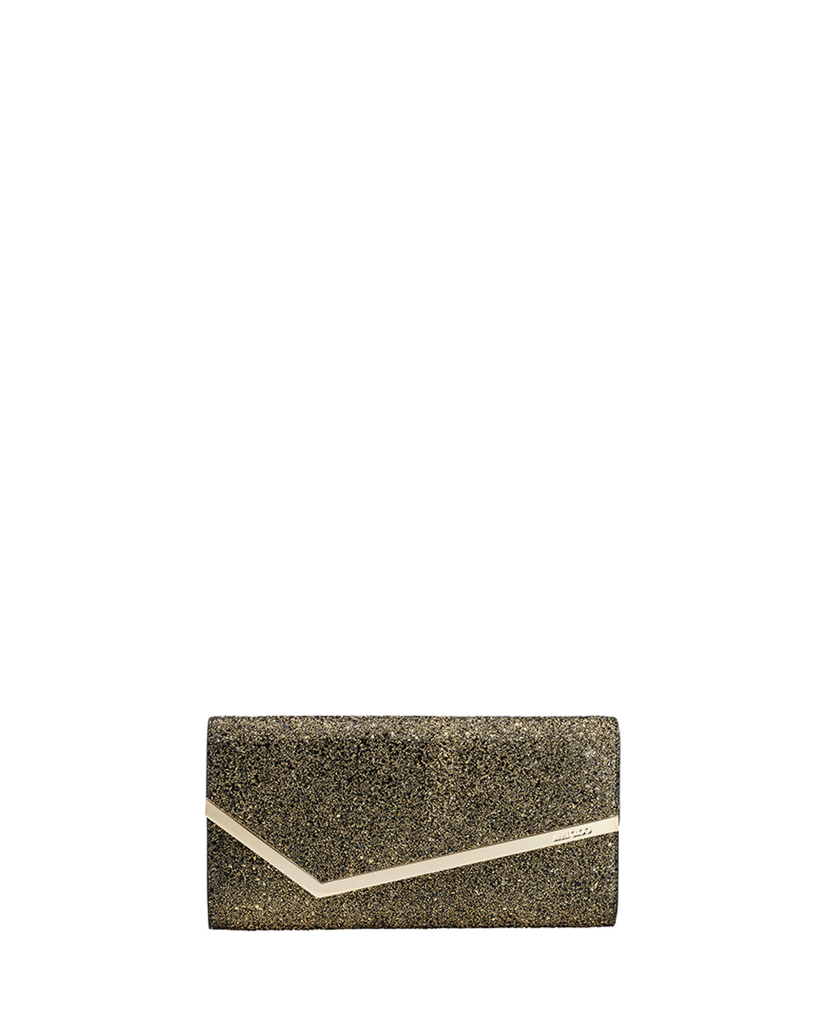 Jimmy Choo Erica Metallic Glitter Clutch Bag