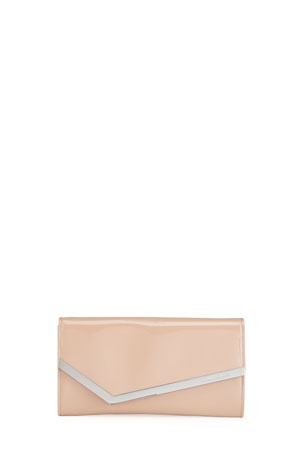 Jimmy Choo Emmie Patent Clutch Bag