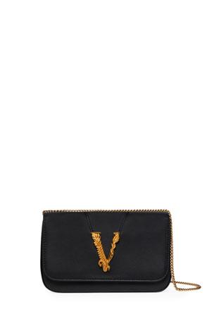Versace Virtus Chain V Medallion Evening Bag
