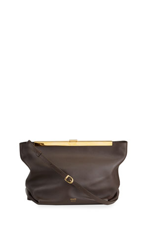 Khaite Augusta Envelope Pleated Crossbody Bag