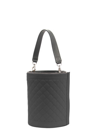 Leigh Ann Barnes Quilted Top Handle Vinyl Bucket Bag