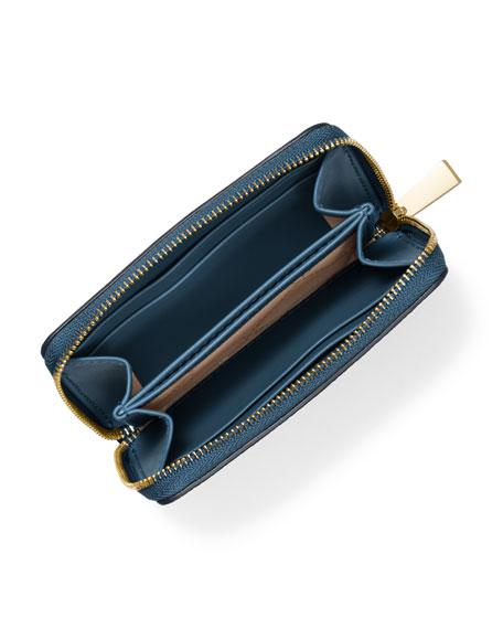 MICHAEL Michael Kors Jet Set Small Zip-Around Leather Card Case Wallet