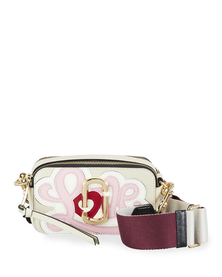 Image 1 of 3: The Marc Jacobs Snapshot Printed Love Crossbody Bag