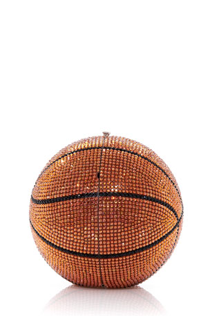 Judith Leiber Couture Basketball Crystal Sphere Clutch Bag