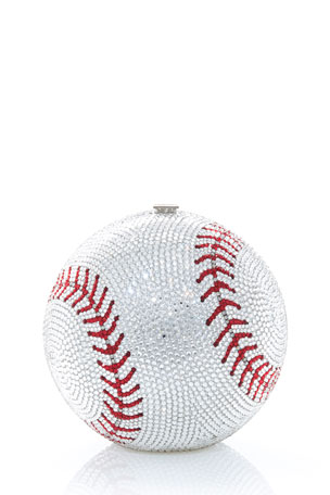 Judith Leiber Couture Sphere Baseball Clutch Bag