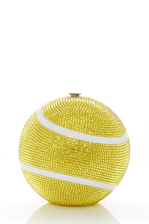 Judith Leiber Couture Sphere Tennis Ball Clutch Bag