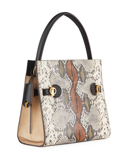 Image 3 of 4: Tory Burch Lee Radziwill Exotic Small Double Bag