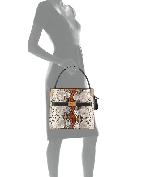 Image 4 of 4: Tory Burch Lee Radziwill Exotic Small Double Bag