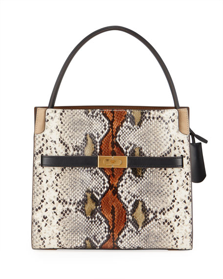 Image 1 of 4: Tory Burch Lee Radziwill Exotic Small Double Bag
