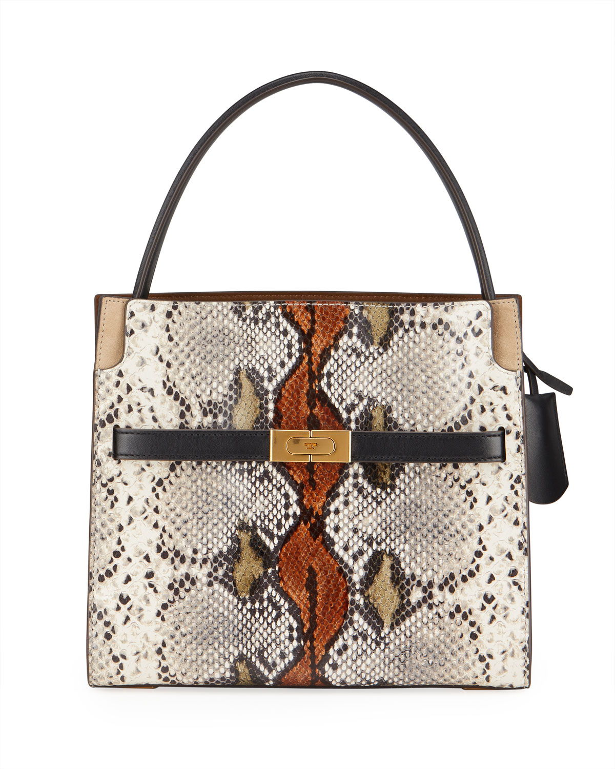 Tory Burch Lee Radziwill Exotic Small Double Bag