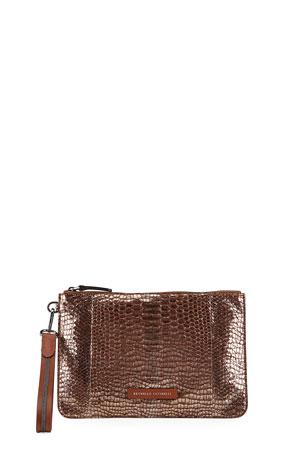 Brunello Cucinelli Portfolio Python Clutch Bag