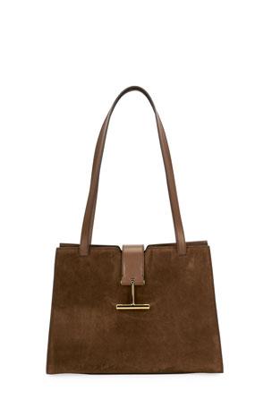 TOM FORD Tara Medium Suede Shoulder Bag