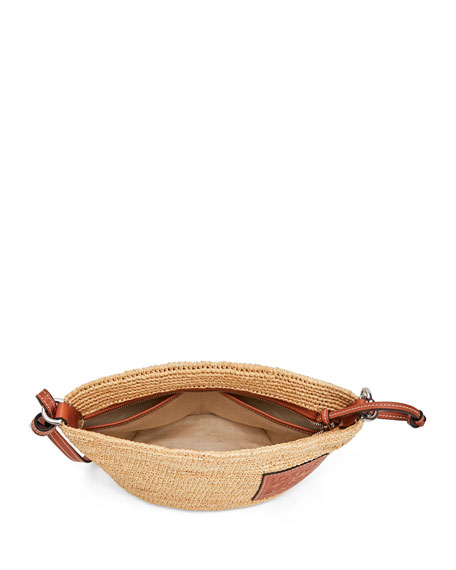 Image 2 of 4: Loewe x Paula's Ibiza Raffia Medium Crossbody Bag