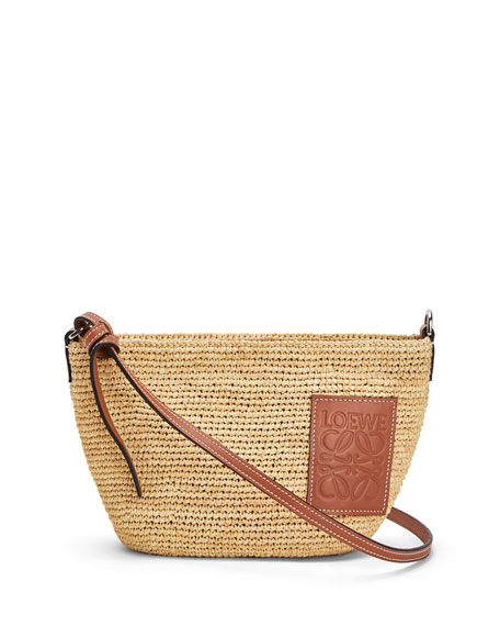 Image 1 of 4: Loewe x Paula's Ibiza Raffia Medium Crossbody Bag
