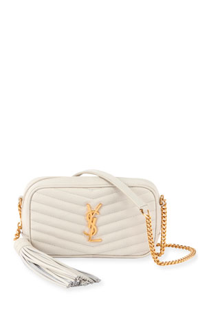 Saint Laurent Lou Mini Grain de Poudre Camera Crossbody Bag