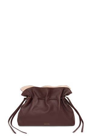 Mansur Gavriel Protea Small Leather Bucket Bag