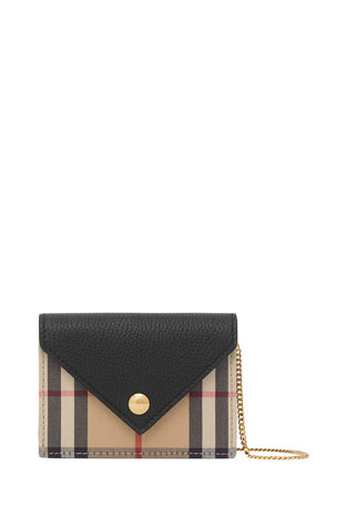 Burberry Jade Vintage Check Chain Wristlet