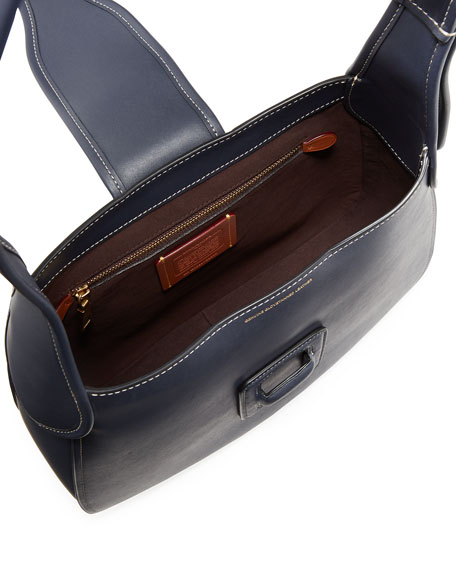 Image 2 of 4: Medium Courier Leather Hobo Bag
