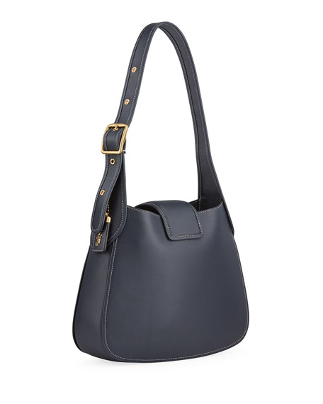 Image 3 of 4: Medium Courier Leather Hobo Bag