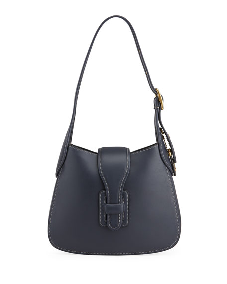 Image 1 of 4: Medium Courier Leather Hobo Bag