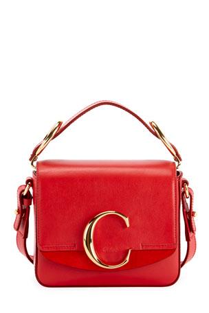Chloe C Mini Shiny Leather Shoulder Bag