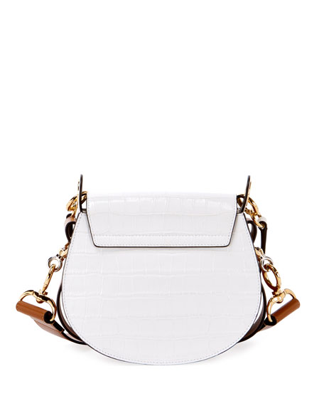 Image 3 of 3: Tess Small Embossed Leather Shoulder Bag