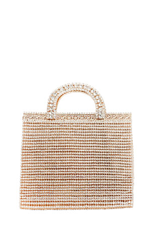 Rosantica Teodora Crystal Top Handle Tote Bag